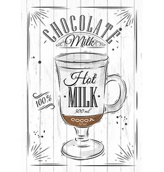 Poster chocolate milk vector