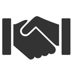 Relation handshake flat icon vector