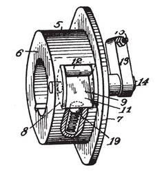 Roller clutch vintage vector