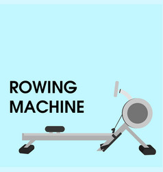 Rowing machine vector