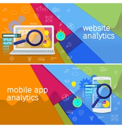 SEO data analysis concept vector image