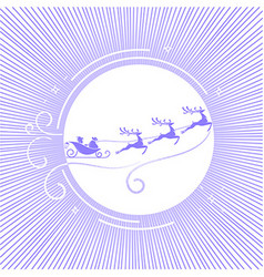silhouette Christmas Day 5 vector image vector image