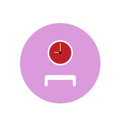 Stylish icon in color circle waiting hall vector