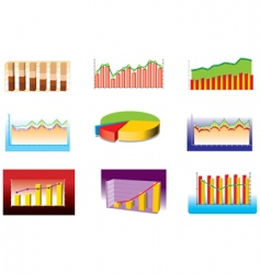various graphs vector image vector image