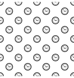 Wall clock pattern simple style vector