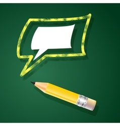 with pencil and speech bubble vector image vector image