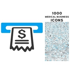 Cashier receipt icon with 1000 medical business vector
