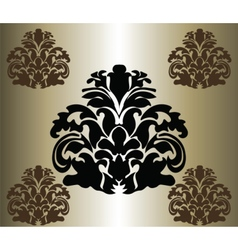 Classic original royal damask ornament vector
