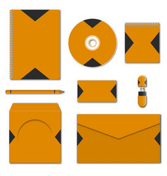 set of various mock-ups of business stationery vector image