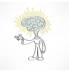 Man brain icon vector