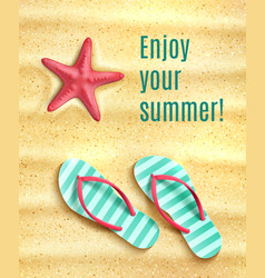 Poster for summer beach vacations holidays vector