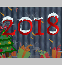 2018 happy new year text for car vector image vector image