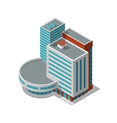Office building isometric vector image