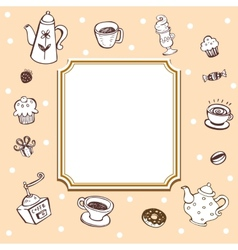 Coffee theme background vector