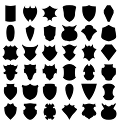 Black Shields vector image