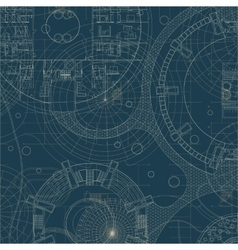 Blueprint architectural plan vector