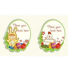 Easter frames vector