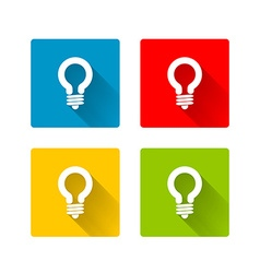 Light bulb icons vector