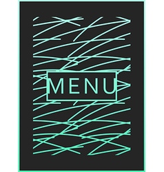 Menu design ready menu design monogram style vector