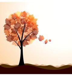 Artistic autumn landscape vector image