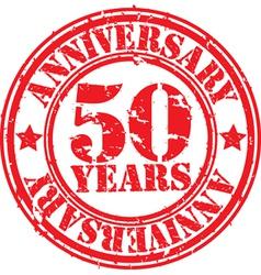 Anniversary stamp vector