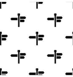 Black signpost arrows seamless pattern vector
