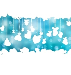 Blue background with valentine hearts EPS 8 vector image vector image