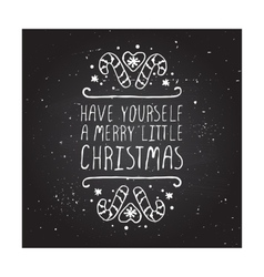 Christmas greeting card with text on chalkboard vector