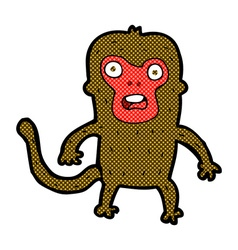 comic cartoon monkey vector image vector image
