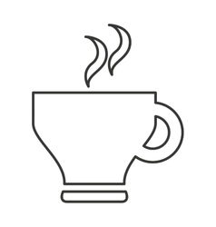 delicious coffee silhouette icon vector image