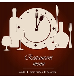 Dinner time vector image vector image