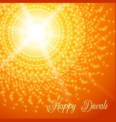 Diwali festival greeting card with rangoli vector