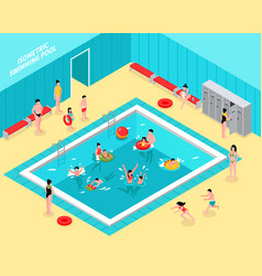 Family pool isometric composition vector