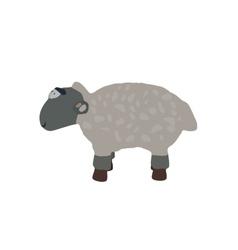 Funny Lamb Isolated on White Background EPS10 vector image