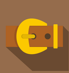 Gold buckle belt icon flat style vector