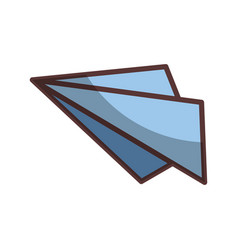 isolated paper airplane vector image vector image