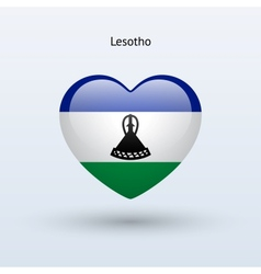 Love lesotho symbol heart flag icon vector