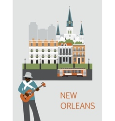 Man in new orleans vector