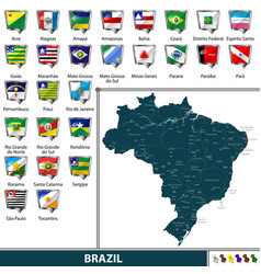 Map of brazil vector