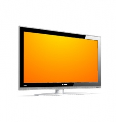 plasma LCD TV vector image vector image