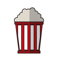 Pop corn delicious icon vector