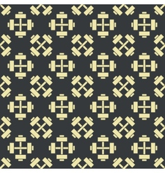 Retro gym seamless pattern vector image vector image