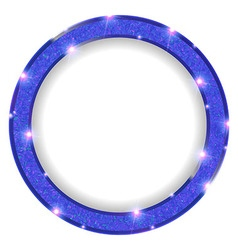 Round blue frame with lights on a light background vector