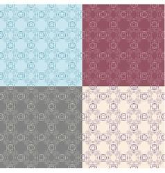 Seamless vintage decorative pattern vector image