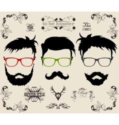 set of hipster modern retro labels vector image