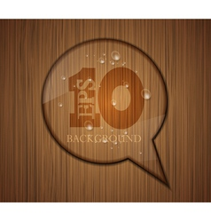 Wood Texture Speech Bubble vector image vector image