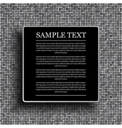 black background on shiny silver sequins vector image