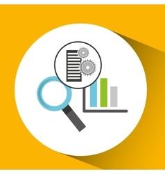 Database setting statistical optimized icon vector