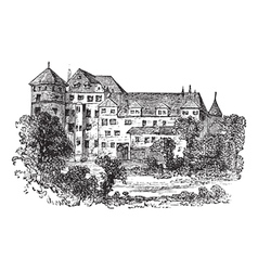 Vintage stuttgart palace vector
