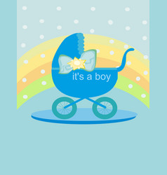 Baby card - its a boy vector